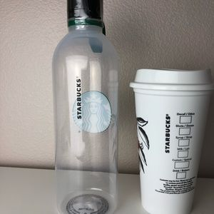 16634f53898 Starbucks Reusable Hot Cup & Water Bottle New NWT